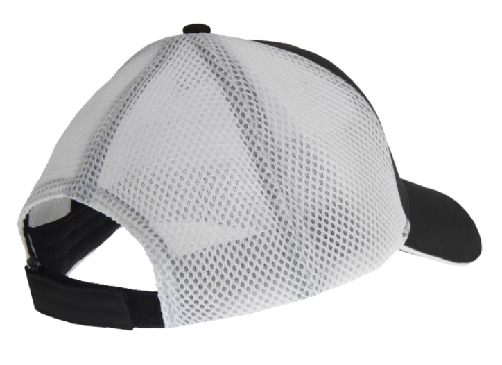 Bass Mafia Pro Tour Black/White Pro Mesh Hat - Direct Fishing Sales