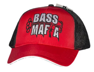 "Bass Mafia ""Hammer"" Red/Black Pro Mesh Hat - Direct Fishing Sales"
