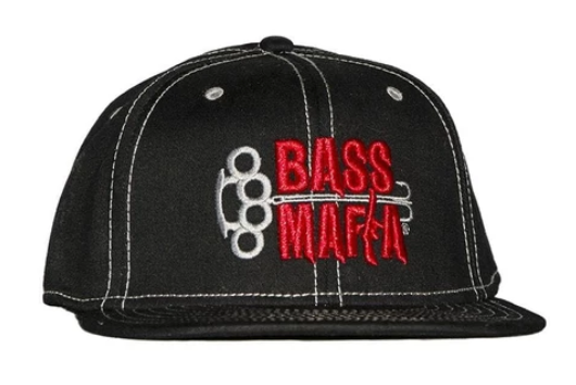 Bass Mafia Flat Bill Logo Hat - Direct Fishing Sales