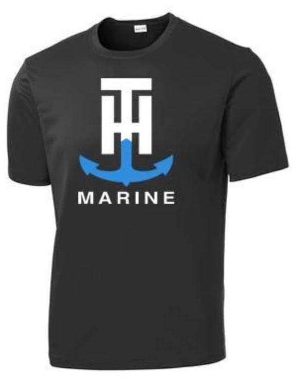 T-H Marine Black Short Sleeve Performance T-Shirt - Direct Fishing Sales