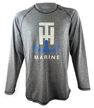 T-H Marine Charcoal FISH DRY Long Sleeve Performance Tee - Direct Fishing Sales