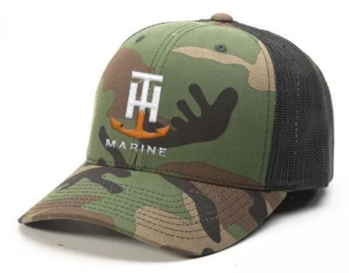 T-H Marine Camo Logo Snapback Hat - Direct Fishing Sales