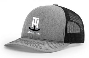 T-H Marine Heather Grey & Black Logo Snapback Hat - Direct Fishing Sales