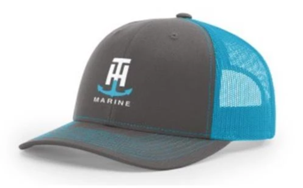 T-H Marine Neon Blue Logo Snapback Hat - Direct Fishing Sales