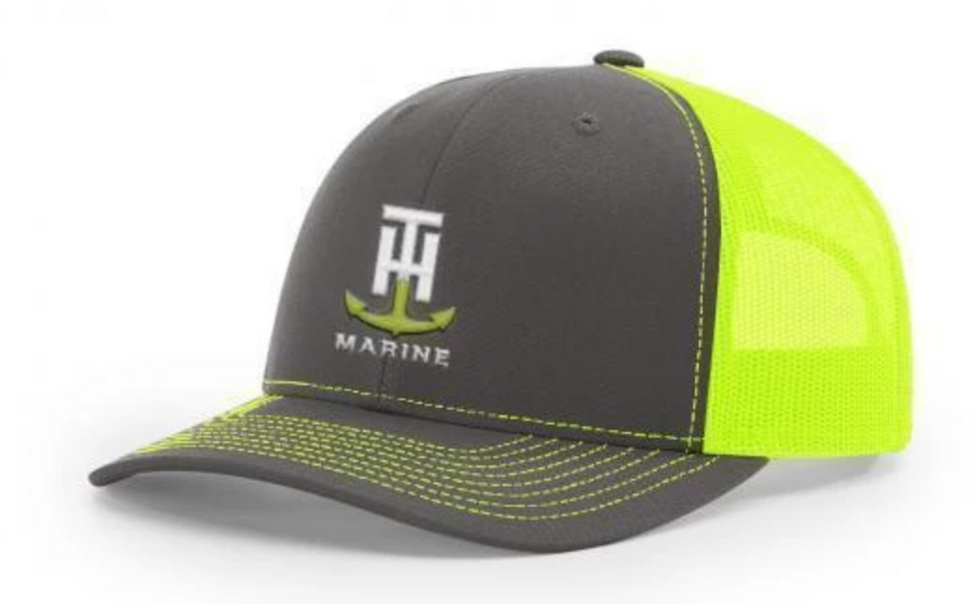 T-H Marine Neon Yellow Logo Snapback Hat - Direct Fishing Sales