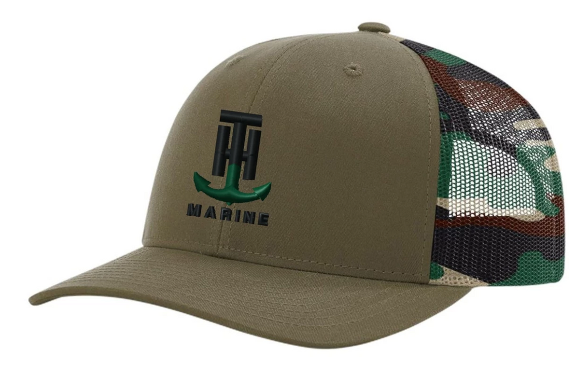 T-H Marine Camo Mesh Logo Snapback Hat - Direct Fishing Sales