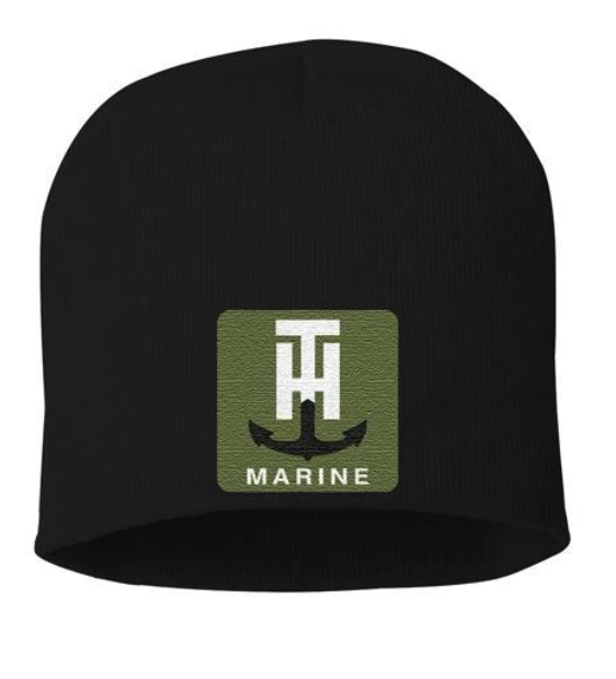 T-H Marine Black Patch Beanie - Direct Fishing Sales