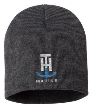 T-H Marine Grey Logo Beanie - Direct Fishing Sales