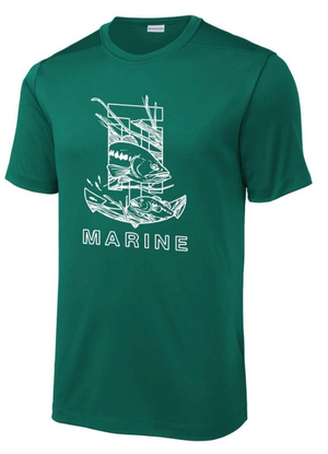 T-H Marine Bass Logo Green Performance T-Shirt - Direct Fishing Sales