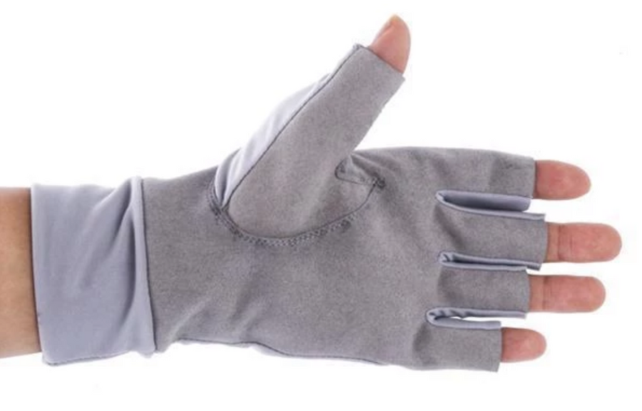 T-H Marine Logo Fishing UV Protection Sun Gloves - Direct Fishing Sales