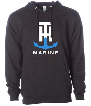 T-H Marine Black Logo Hoodie - Direct Fishing Sales
