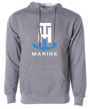 T-H Marine Gray Logo Hoodie - Direct Fishing Sales