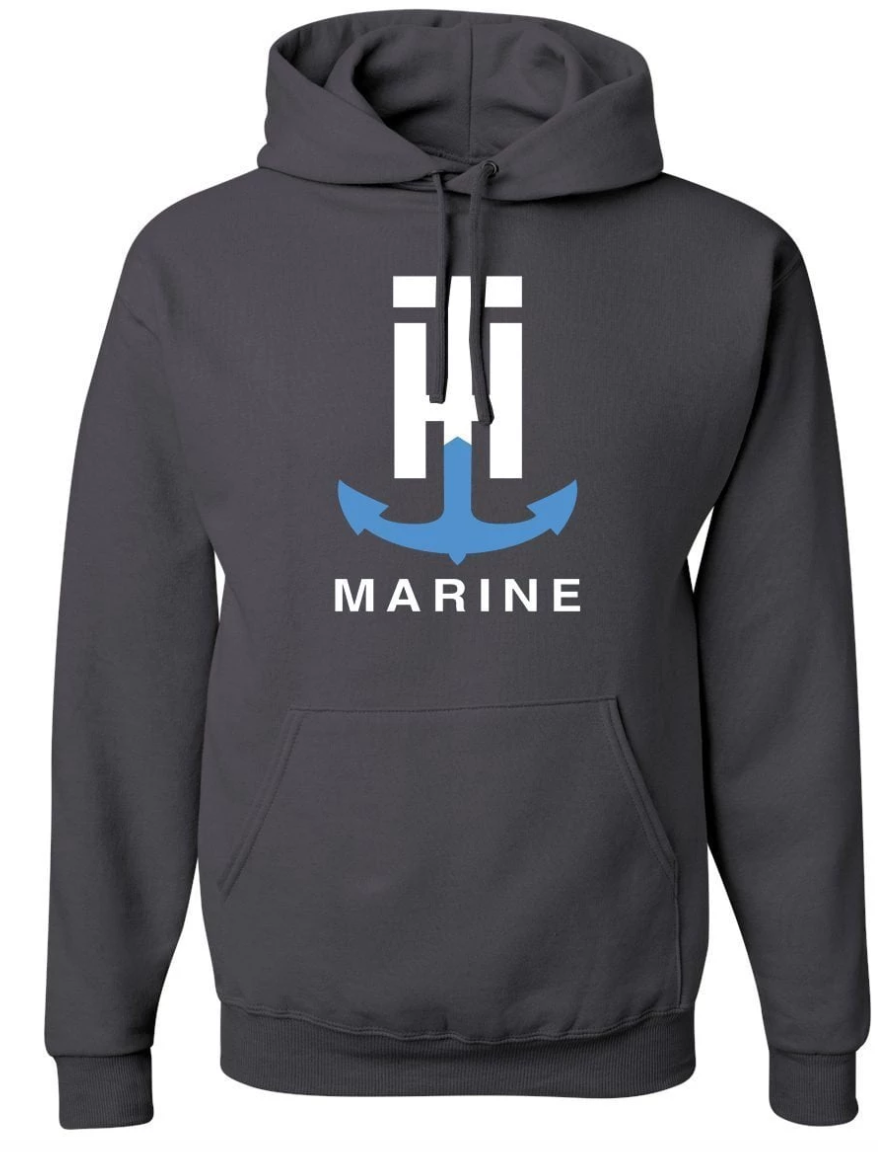 T-H Marine Charcoal Logo Hoodie - Direct Fishing Sales