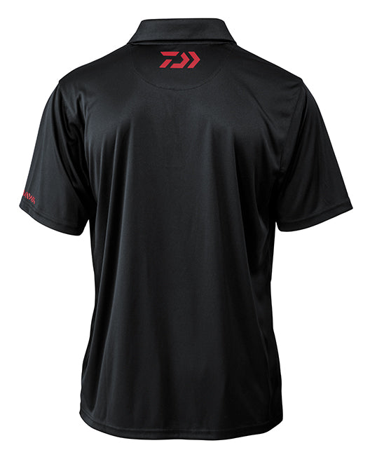 Daiwa D-VEC Black Polo Shirt - Direct Fishing Sales