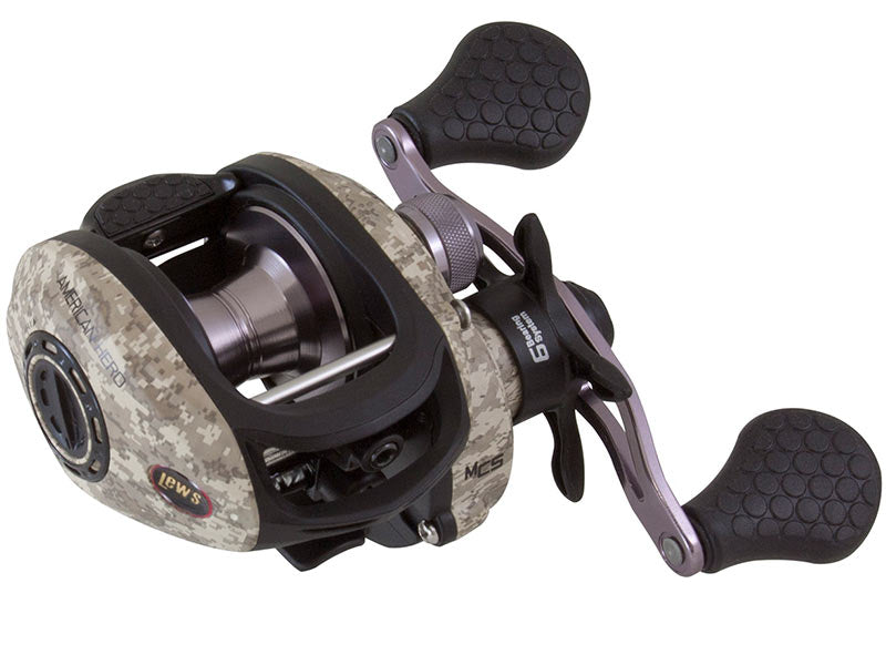 Lews American Hero Camo Speed Spool Series Reel - Direct Fishing Sales