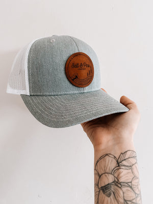 NEW Salt & Pine Leather Patch Hat