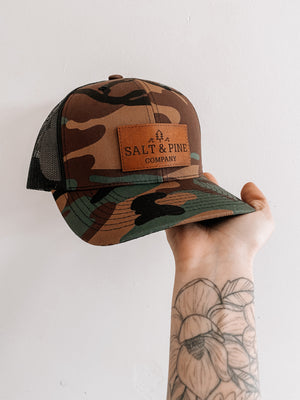 Salt & Pine Leather Patch Hat