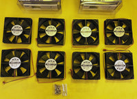 NEW 8x Server Dual-Ball Bearing Cooling Fans + PC Auto Temperature Controller