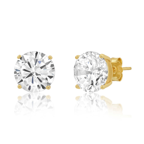 10 MM SOLITAIRE STUD, GOLD