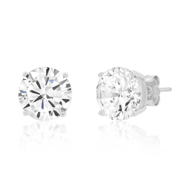 10 MM SOLITAIRE STUD, SILVER