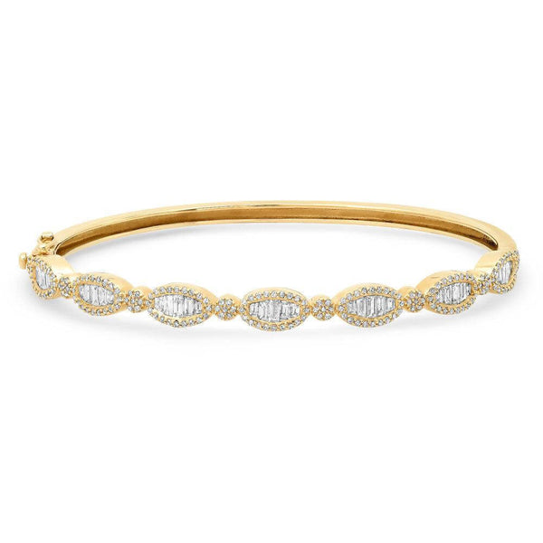 HELIX BAGUETTE DIAMOND BANGLE, GOLD