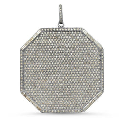 LARGE DIAMOND DEFEND PENDANT, BR STERLING SILVER
