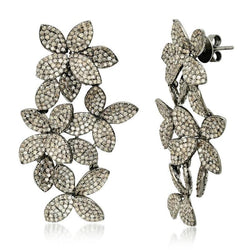 FIORE DIAMOND CASCADE EARRING, BR STERLING SILVER