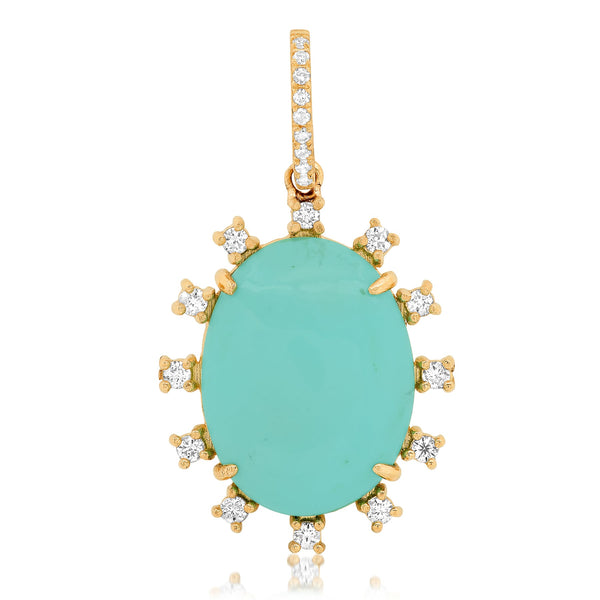 CALM TURQUOISE CHARM, GOLD