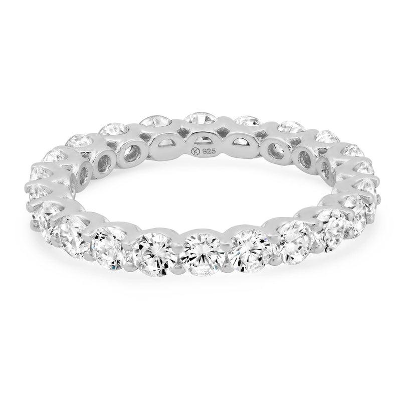 ROUND ETERNITY RING, SILVER