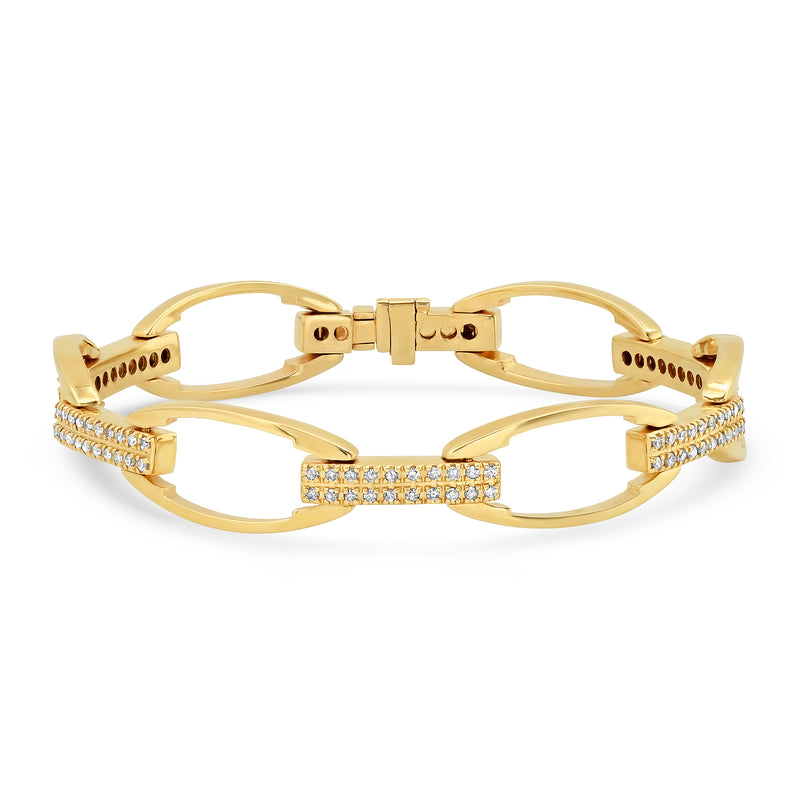 DIAMOND LINK BRACELET, GOLD