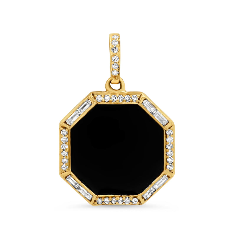 TINY BLACK DEFEND CHARM, GOLD
