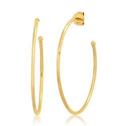 MEDIUM SOLID HOOPS, GOLD