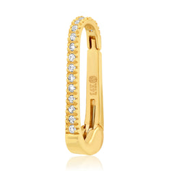 SMALL DIAMOND HOOK, GOLD