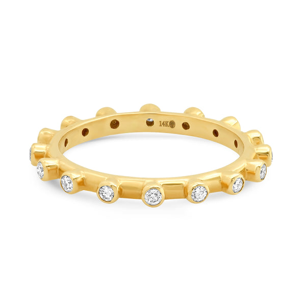 DIAMOND DOTTED STACKED RING, GOLD