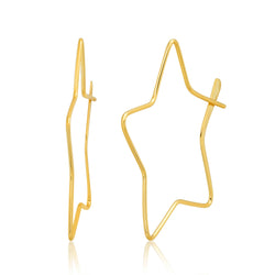 STAR HOOP, GOLD