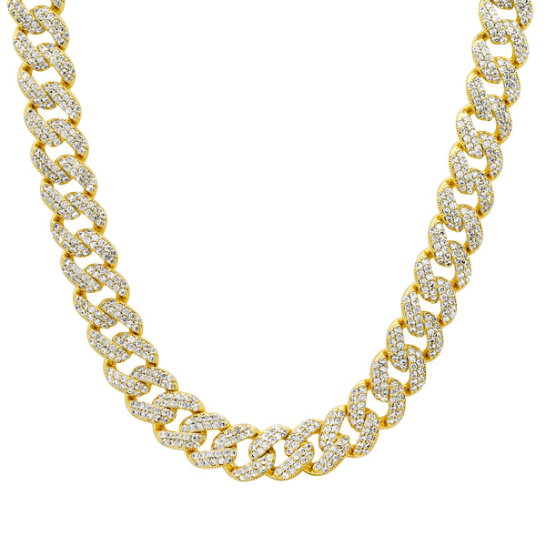 LARGE CUBAN LINK VIBRATION CHOKER GOLD