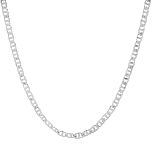 TINY HORSEBIT CHAIN LINK NECKLACE, SILVER