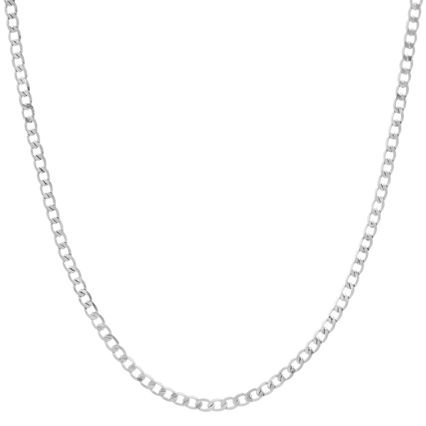 Tiny Cuban Link Chain, Silver
