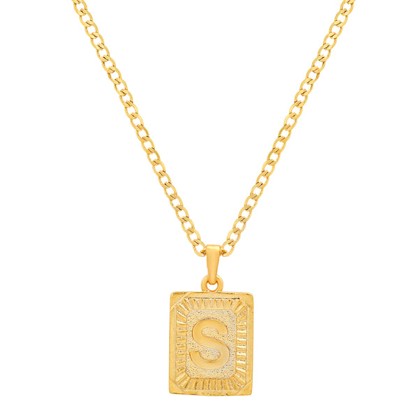 SIGNATURE INITIAL NECKLACE GOLD