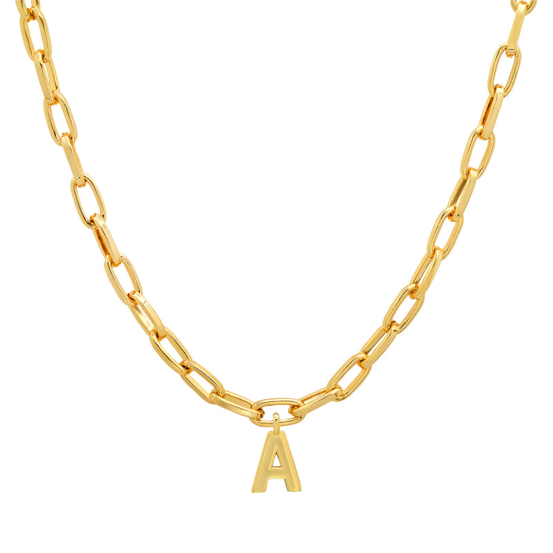 INITIAL PAPERCLIP CHAIN GOLD