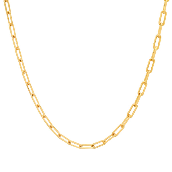 THIN PAPERCLIP CHAIN GOLD