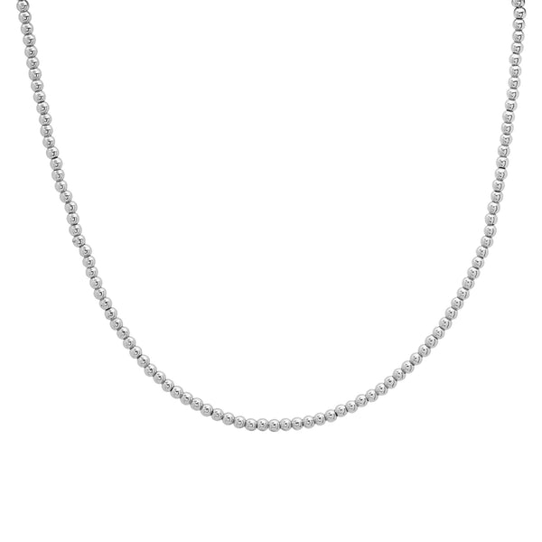 BALL CHOKER NECKLACE, SILVER
