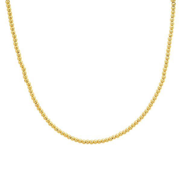 BALL CHOKER NECKLACE, GOLD