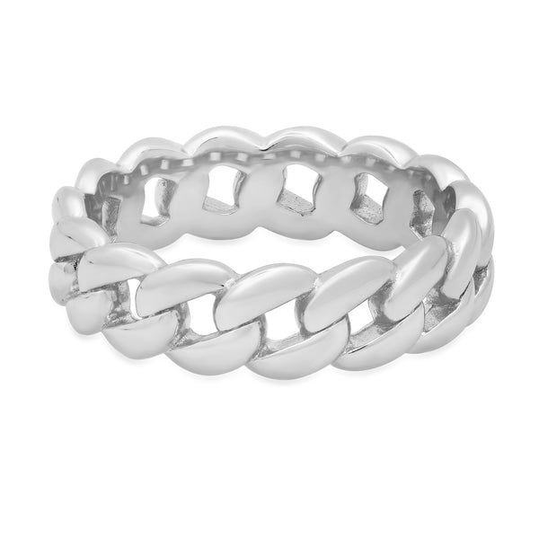CUBAN LINK RING SILVER