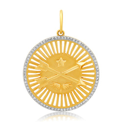 Star & Arrows Pendant 14kt Gold