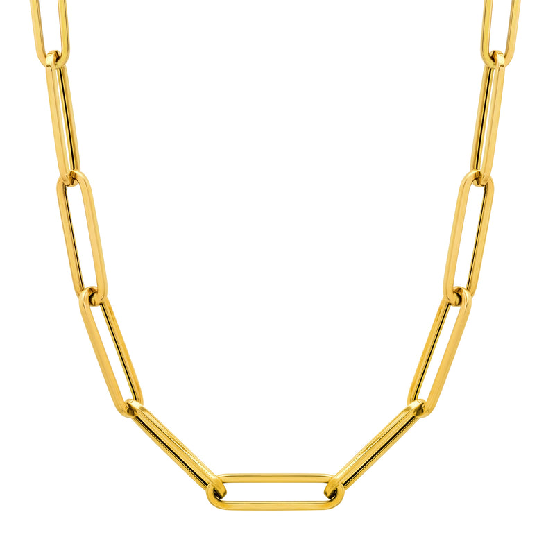 XL Paper Clip chain 14kt Gold