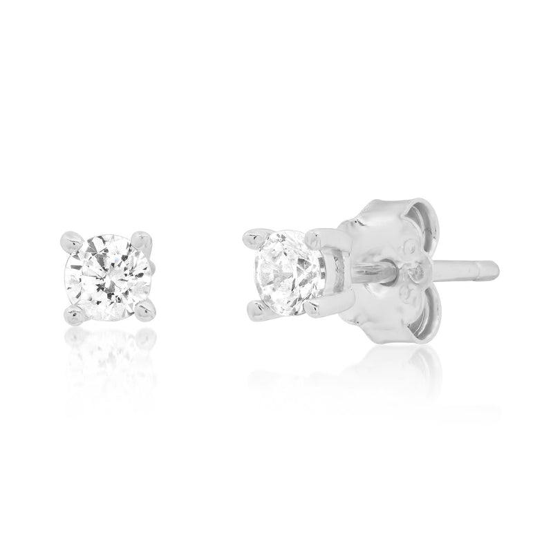 3 MM SOLITAIRE STUD, SILVER