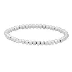 4 MM  STRETCH BRACELET, SILVER