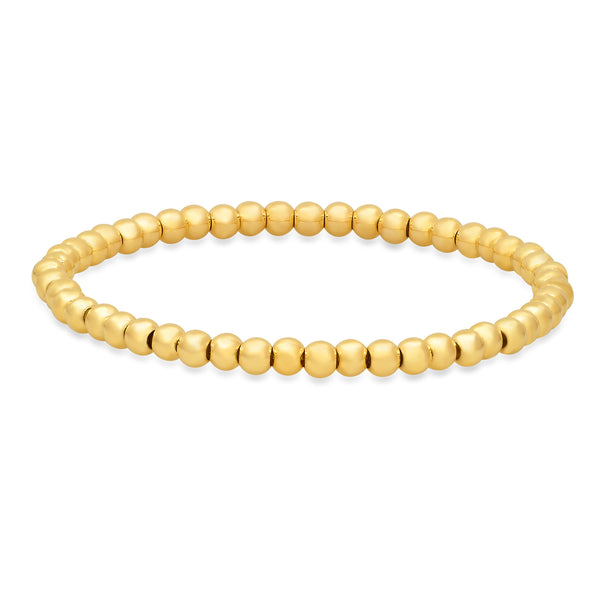 4 MM STRETCH BRACELET, GOLD
