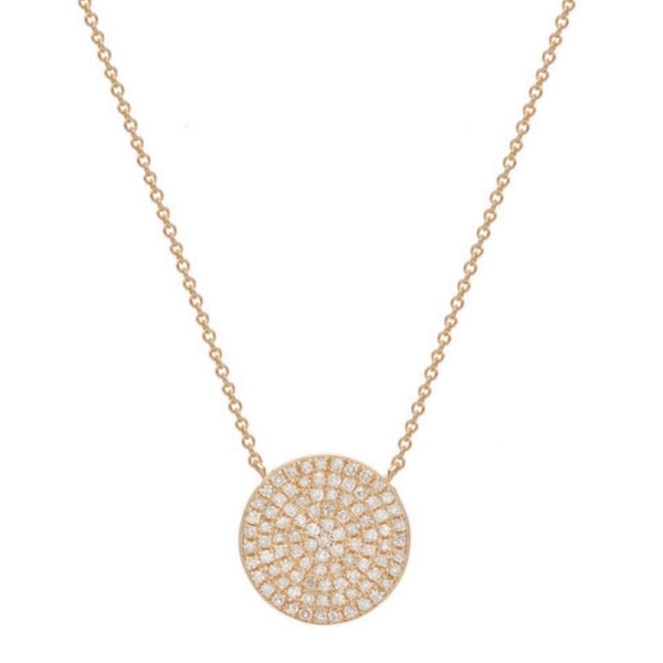 ORIGINAL DISC NECKLACE, GOLD